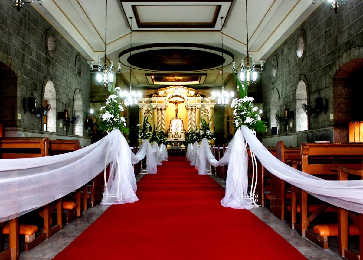 Church Interior Wedding Aisle Carpet